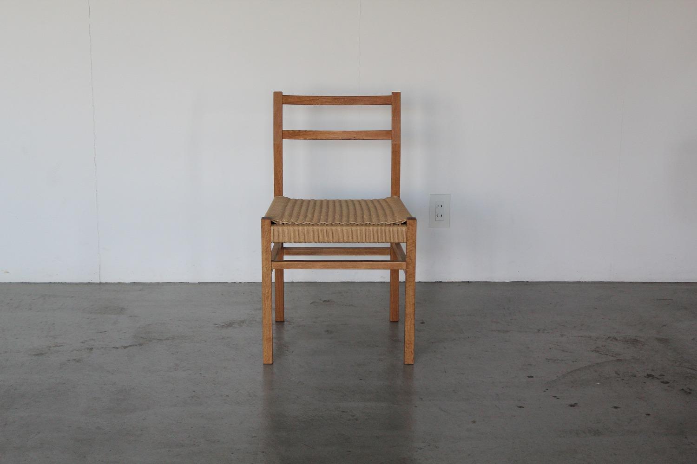ナラの椅子/ ペーパーコード使用