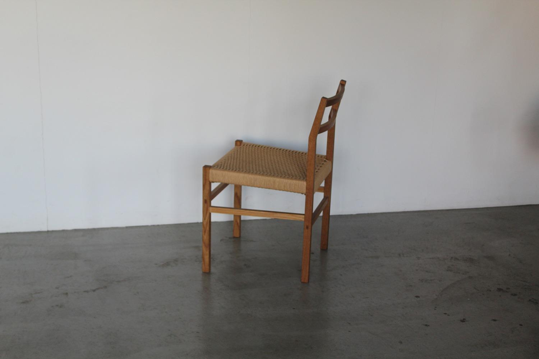 ナラの椅子/ペーパーコード使用