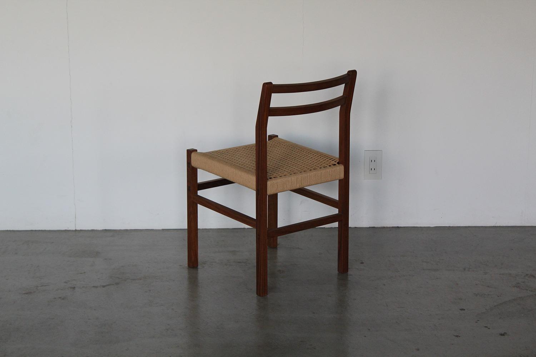 チークの椅子/ペーパーコード使用